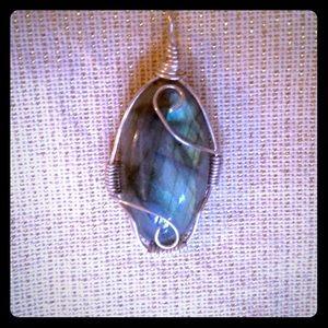 Handmade Sterling silver labradorite pendant